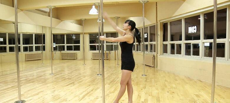 exercise with pole dancing